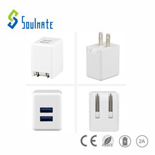 Factory Mini 2 Ports 2.1A Micro USB US Plug Charging Adapter Dock Wall phone Charger Mobile charger