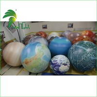 exhibition inflatable planet/ helium balloon with LED light
