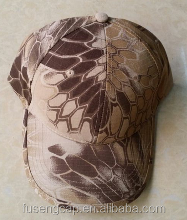 blank python skin camo cap camouflage military cap baseball hat