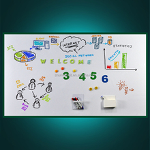 Promotion flexible kids small size magnetic soft whiteboard with glue for home fridge