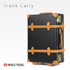 Light weight high quality genuine leather suitcase as sky travel luggage bag