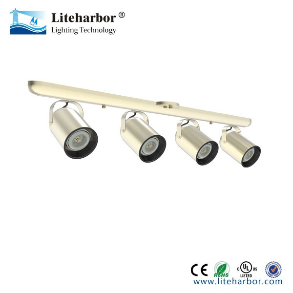 E26 base 4 light par20 ul led track lighting with 5 year limited warranty