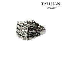 Gothic Skeleton Hand Bones Fashion Jewelry Men's Ring