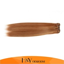 Machine double drawn hair extention weft silky straight Indian remy P27/30 6A Indian virgin hair