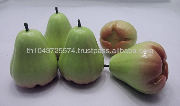 Thailand Handmade Artificial Fake Fruit Green Rose Apple Decorations, home decor