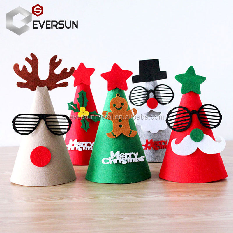 Smiry Christmas Santa Claus Hat Caps Decorations Festival Charms Favor Caps DIY Handmade Christmas Gifts Party Supplies Crafts