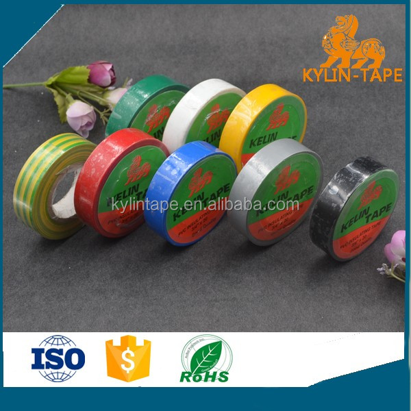 Rainbow shining colorful heat resistant pvc electrical insulation tape