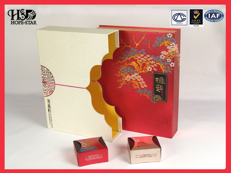 Factory Custom chinese packaging printing mooncake box design