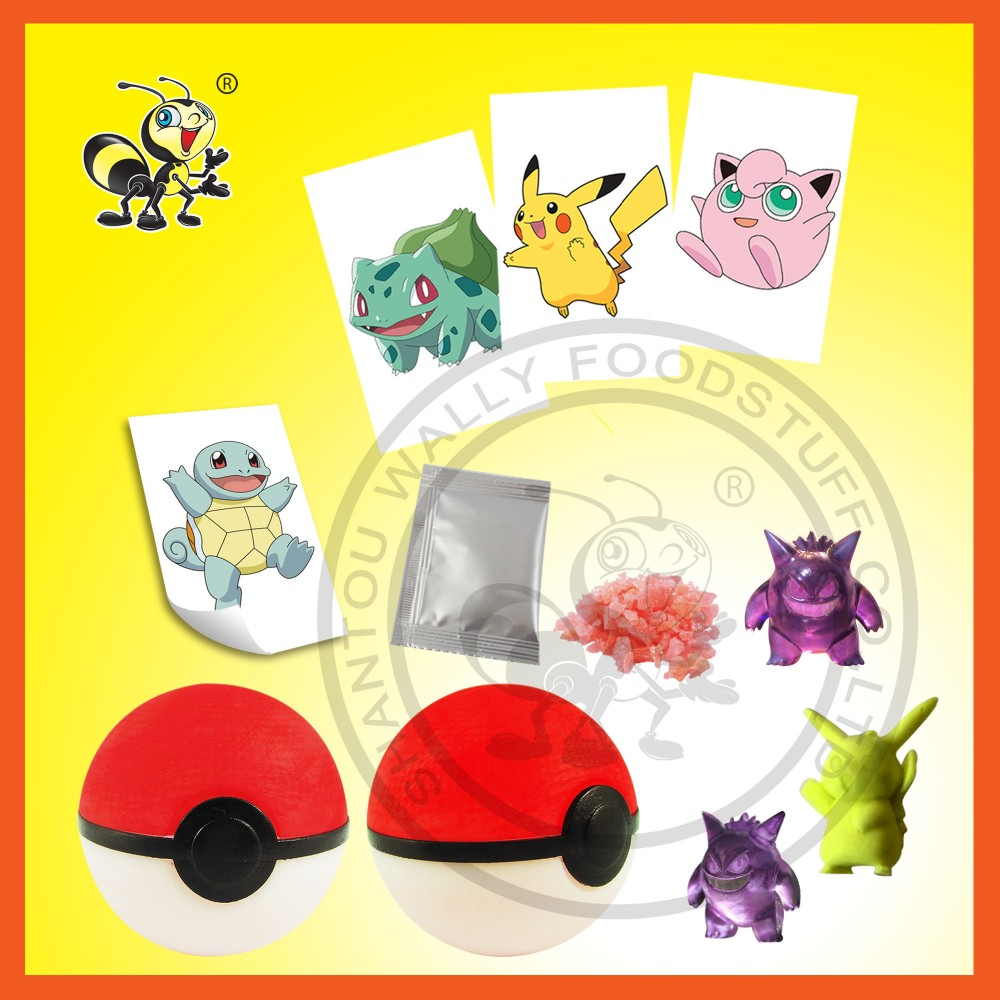 Poke mon Surprise Ball Toy Candy With Different Toys Inside Surprise Egg Toy Candy