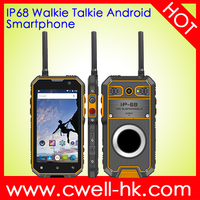 "5"" Inch Glove Touch Screen Quad core best rugged smartphone IP68 waterproof NFC 2GB RAM/16GB ROM Mobile phone with walkie talkie"