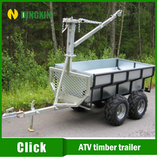 2016 hot sales atv box trailer with crane and winch