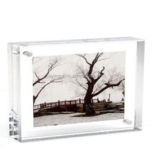 "Alibaba china OEM custom 5 3"" thick acrylic picture frame 2.5x3.5"