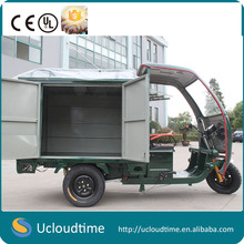 1200w Cargo tricycle with cabin for Express Ice Cream Pizza Bread drinks foods promotion sales