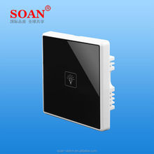 touch switch with microwave induction and long line control, waterproof sensor switch for bathroom/aisle stairs/office