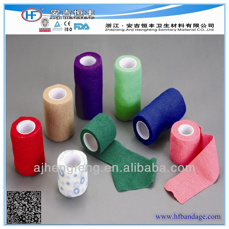 Colored Elastic Cohesive With ISO9001,ISO 13485,CE,FDA