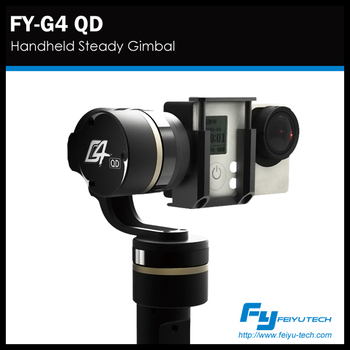 FY-G4 QD hot sellers! 3 axis gimbal brushless Handheld camera gimbal for Gopro Gopro 3+ ,Gopro 4 and Xiaoyi camera