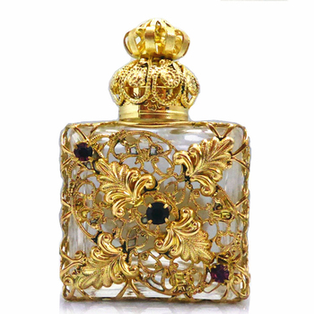 Wholesale 10ml Arabic Style Square Empty Perfume Bottles With Glass Stick Cap