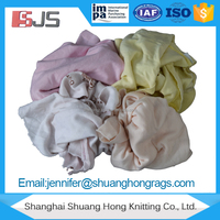 Industrial Soft and high quality Recycled light T-Shirt textile waste Rags