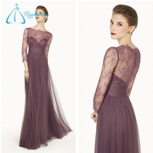 Simple Elegant Plus Size Cheap Evening Dress Long Sleeve