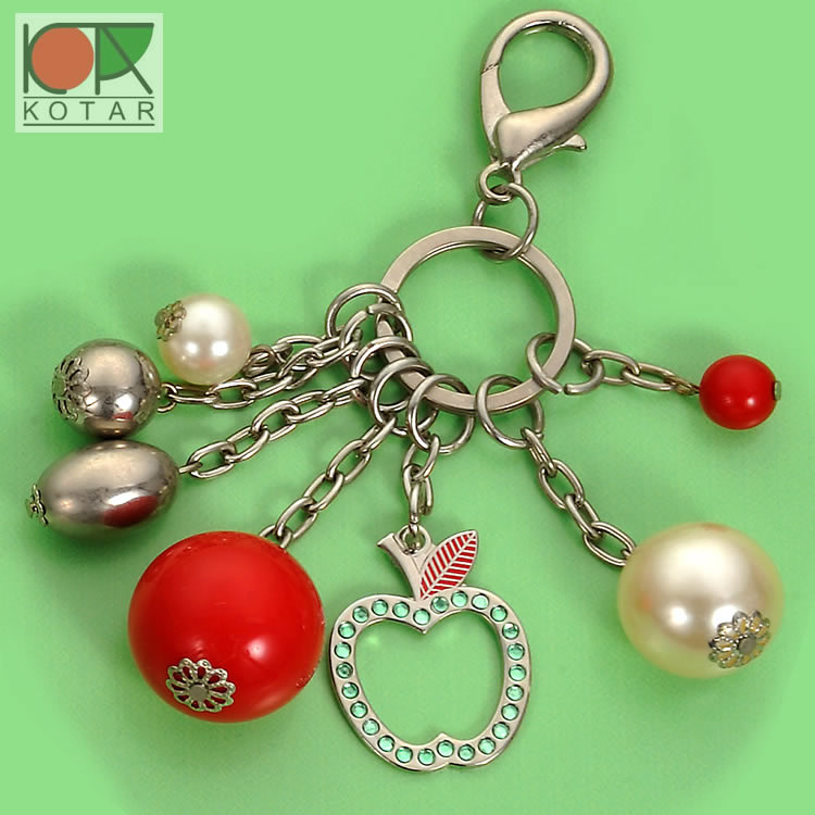 New design fashion keyring with bead