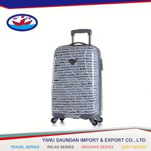 Latest Arrival OEM Quality printed pc luggage set/travel suitcase 2015