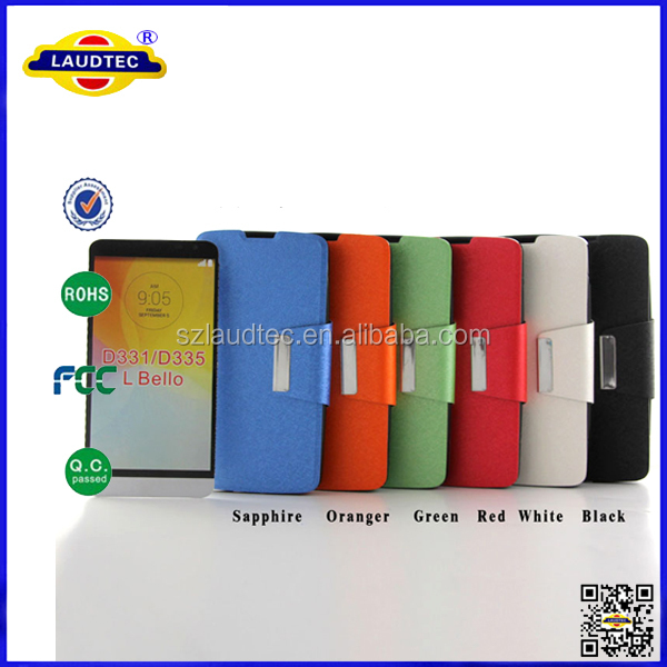 Flip wallet Premium <strong>Leather</strong> Belt Clip Stand Case Cover For LG <strong>L</strong> Bello