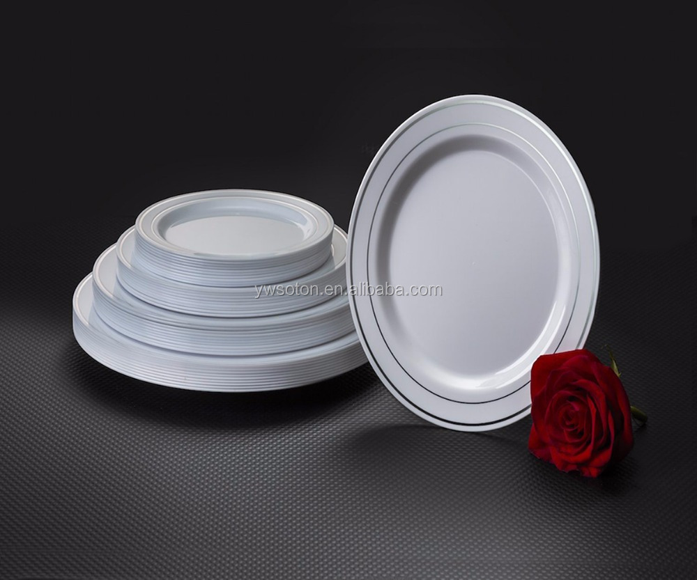 Disposable Plastic Plates Set Salad/Dessert Plates