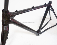 58cm 12k carbon road frame disc brake cyclocross bike frame bb86