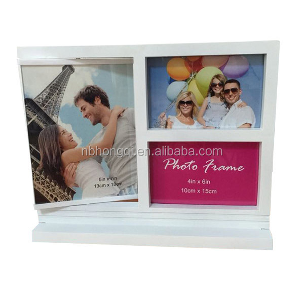 Latest Put on Table Plastic Turnable Picture Frame