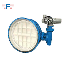 Cast ductile iron stainless steel concentric flange butterfly valve