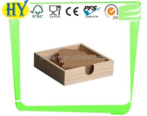 2015 china supplier wholesale customized unfinished wooden coaster
