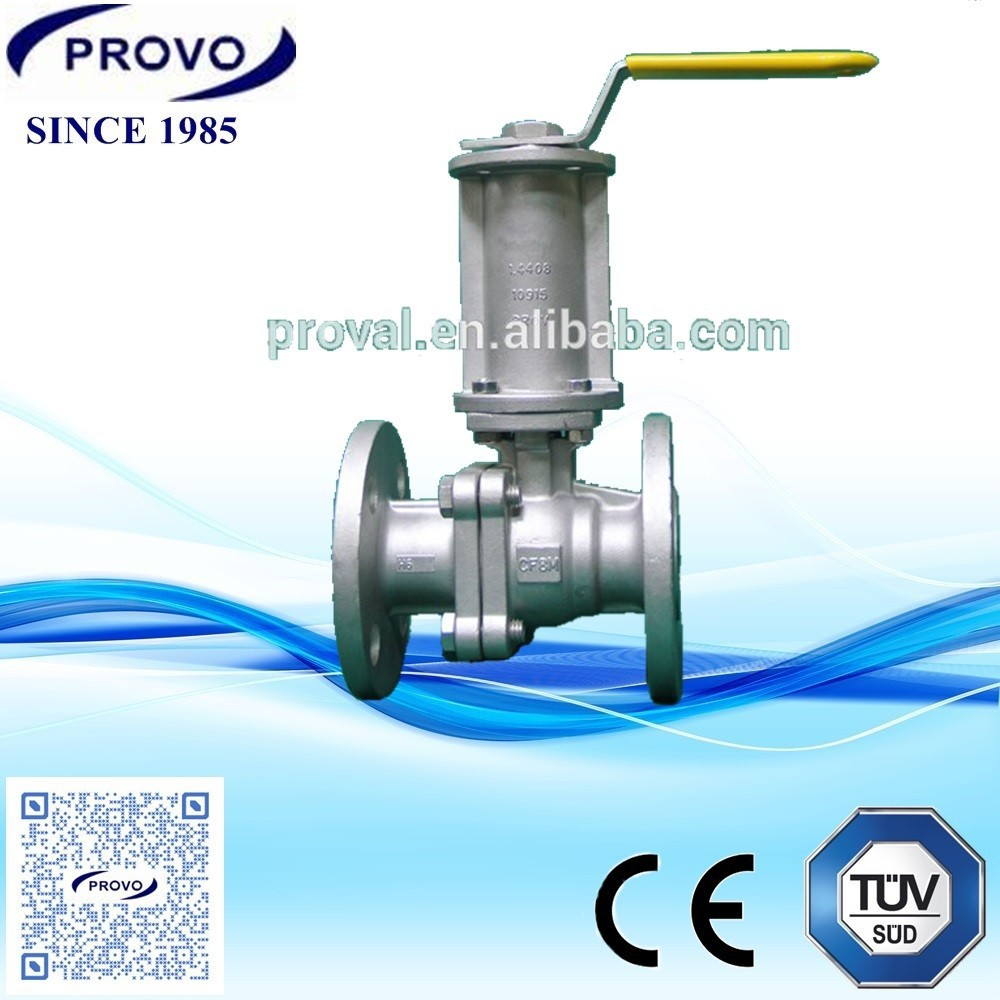 2PC CF8M long stem blow off hot water ball valve