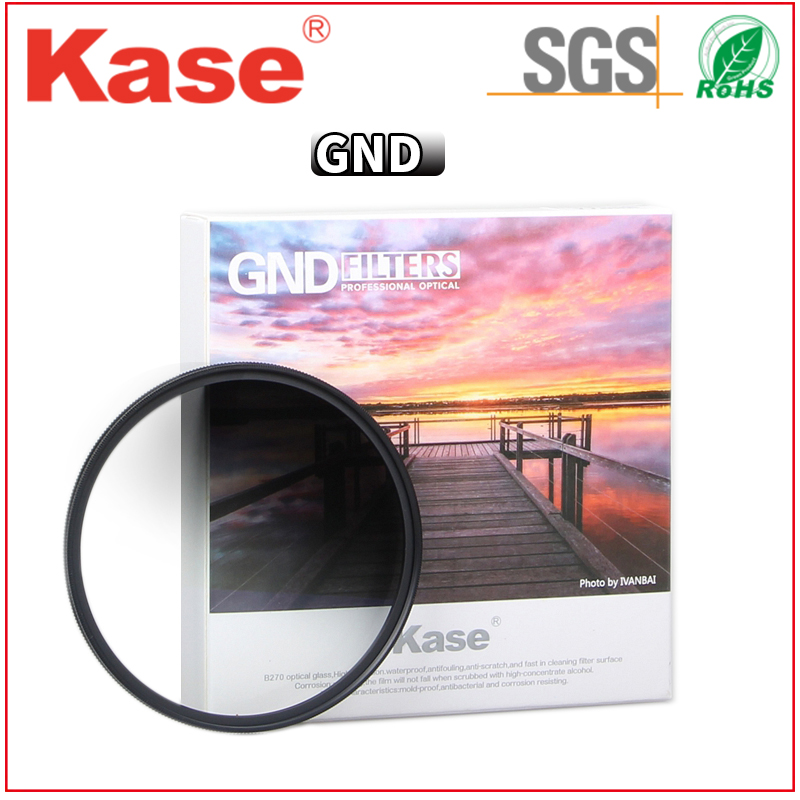 Kase DSLR camera accessory suqare filter gradual grey color filter for photogrpahy
