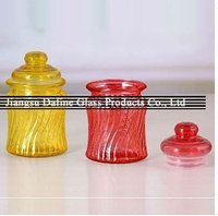 glass jar with lid for home decoration and preserved food, candy