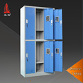 High School Lockers 6 Student Used Blue Steel Stationary Wardrobes
