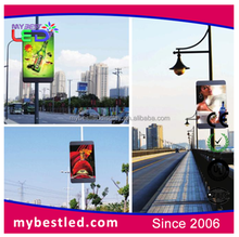 Waterproof Street Lamp Pole 3G Advertising LED Display P6 Outdoor Banner Pole Sign