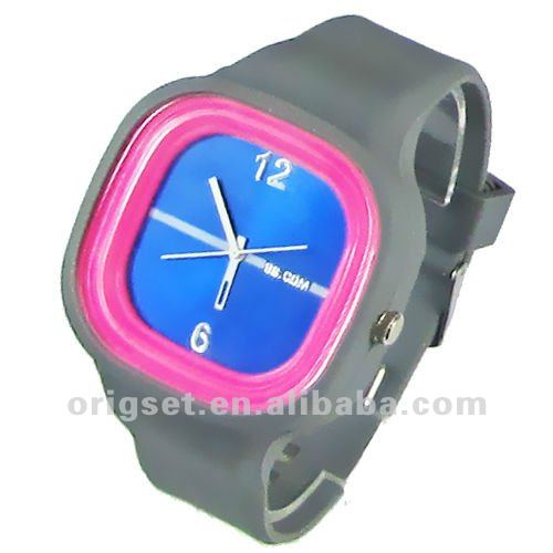 silicon watch waterproof wristbands watch