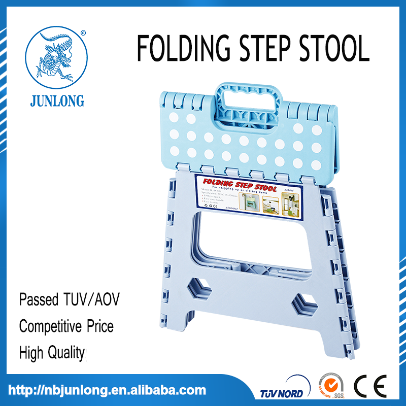 Blue and white 13 Inches Folding Step Stool