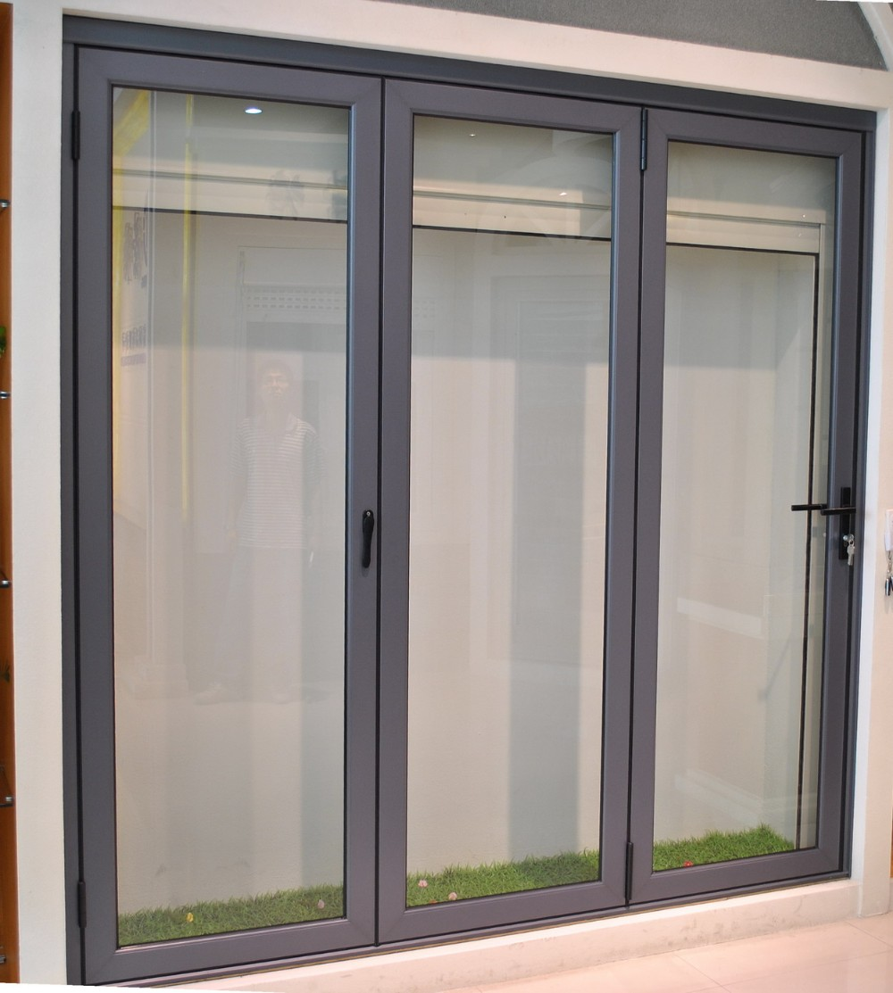 Double panel aluminium large entrance sliding glass doors for Big sliding glass doors