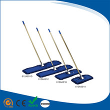 Clip-On Cotton floor cleaning stick mops /dust mops with stainless steel stick For House/Hotel