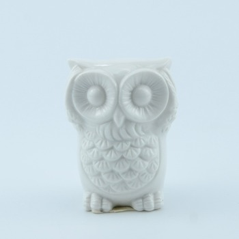 2017 Most popular white art small ceramic owl with good quality