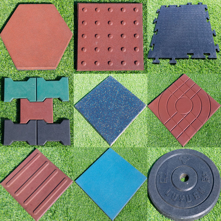 health and high density rubber tile for outdoor playground floor