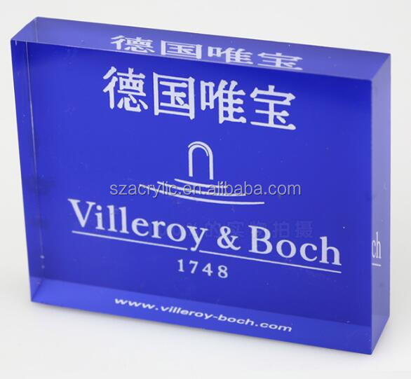 25 mm acrylic brand logoes sign display block