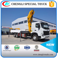 CNHTC HOWOA7 6*4 10Wheels 16Ton 15m Foldable Truck Mounted Crane Manufacturer Price of XCMG 8T Mobile Crane
