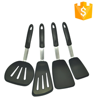 Wholesale FDA%LFGB Cooking tools kitchen utensils and appliances turner spatula /silicone slotted turner