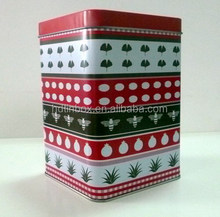 Sweets metal tin canister square tin can