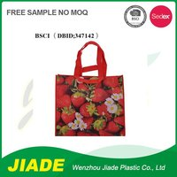China manufacturer sedex 4 pillar factory durable pp woven shopping bag tote