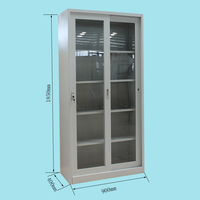 High quality KD glass silding door folding cupboard