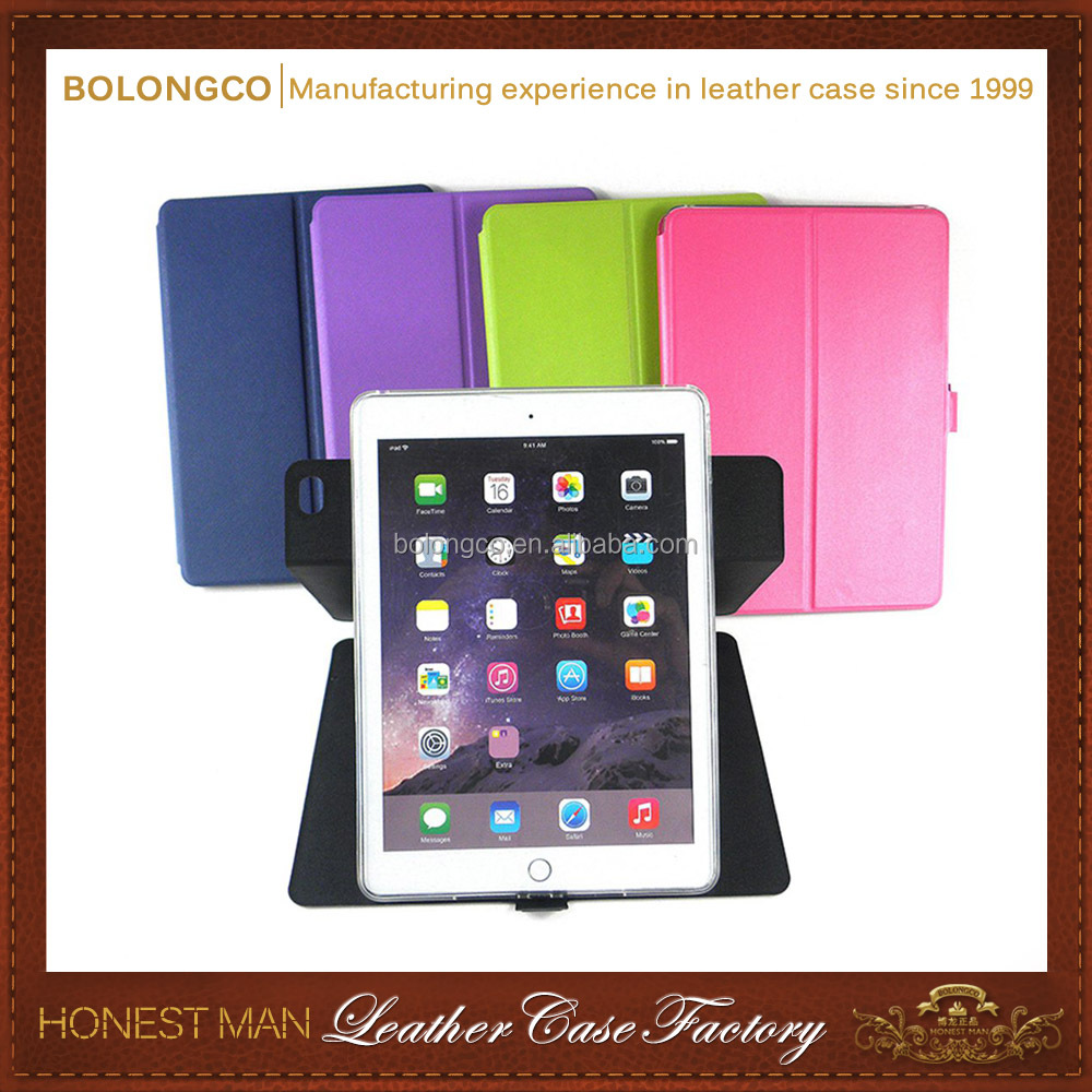 For iPad case with auto sleep wake function,tablet case for mini ,double folding stand holder tablet case