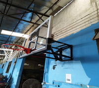 Wall mount basketball backboard height adjustable basketball hoops